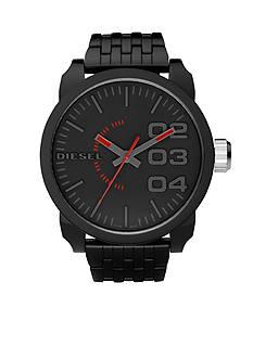 Diesel Men's XL Round Black Dial with Black Resin Bracelet Watch