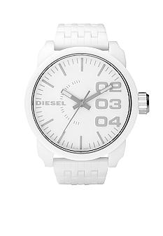 Diesel Men's XL White Round Dial with White Resin Bracelet Watch