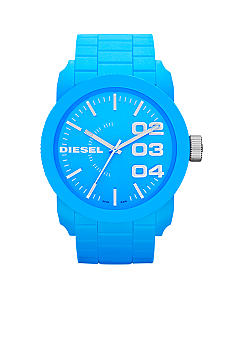 Diesel Men's Blue Plastic and Silver-Tone Stainless Steel Three-Hand Watch