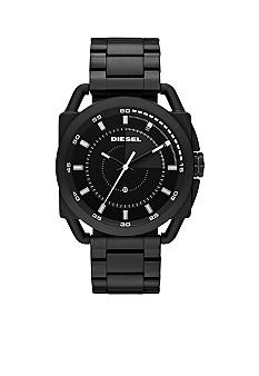 Diesel Men's Black IP Stainless Steel Three-Hand Watch