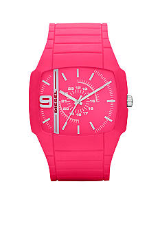 Diesel Men's Analog Pink Silicone Watch