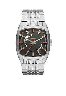 Diesel Men's Silver-Tone Stainless Steel Three-Hand Watch