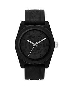 Diesel Men's Black Silicone Three-Hand Analog Watch