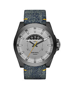 Diesel Arges Denim and Gunmetal Stainless Steel Three-Hand with Date Watch