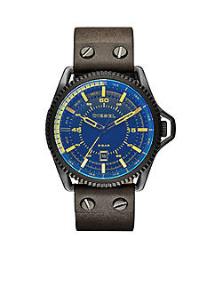 Diesel Men's Rollcage Dark Green Three Hand Watch