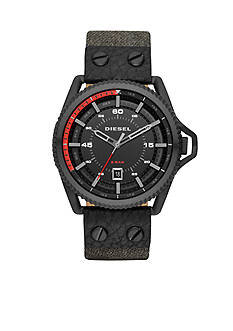 Diesel Men's Rollcage Black Jean Chronograph Watch