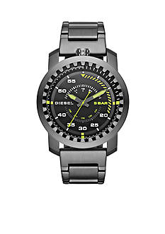 Diesel Men's Rig Gunmetal Stainless Steel Three-Hand Watch