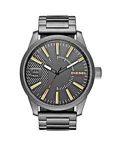 Diesel Men's Rasp Gunmetal-Tone Stainless Steel Watch