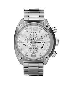 Diesel Men's Stainless Steel Bracelet and White Chronograph Round Dial Watch