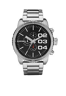 Diesel Men's Polished Stainless Steel Bracelet Black Chronograph Watch