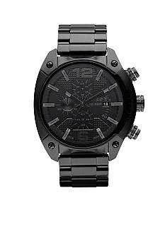Diesel Black IP Stainless Steel Bracelet Chronograph Watch