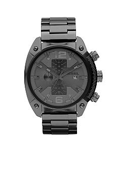 Diesel Men's Chronograph Round Gunmetal Dial with Gunmetal Stainless Steel Bracelet Watch