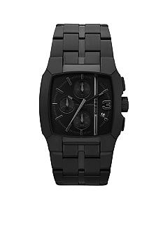 Diesel Men's Square Black Stainless Steel Chronograph Watch