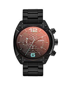 Diesel Men's Black Stainless Steel Chronograph Bracelet Watch