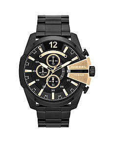 Diesel Men's Black IP Stainless Steel Chief Series Chronograph Watch