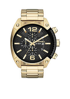 Diesel Overflow Gold-Tone Stainless Steel Chronograph Watch