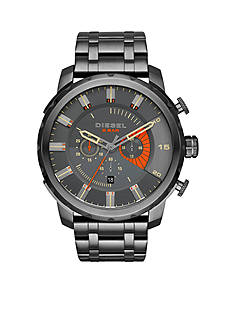 Diesel Stronghold Gunmetal IP Stainless Steel Chronograph Watch