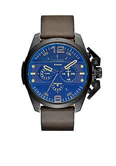 Diesel Men's Ironside Dark Green Leather Chronograph Watch
