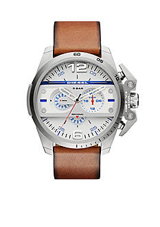 Diesel Men's Ironside Silver And Brown Chronograph Watch