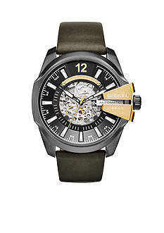 Diesel Men's Chief Green Leather Automatic Watch