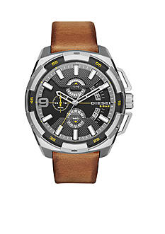 Diesel Men's Heavyweight Tan Leather Strap Watch