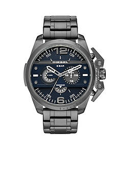 Diesel Men's Ironside Gunmetal Chronograph Blue Dial Watch
