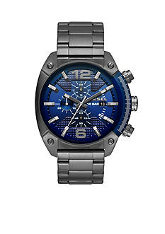 Men's Diesel Overflow Chronograph Gunmetal Watch