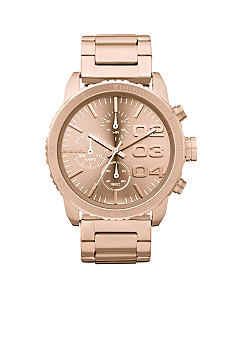 Diesel Rose Gold Tone Stainless Steel Chronograph Watch