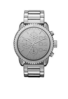 Diesel Silver Tone Stainless Steel Chronograph Glitz Watch