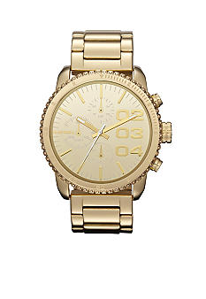 Diesel Gold Tone Stainless Steel Chronograph Glitz Watch