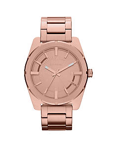Diesel Ladies Rose Gold-Tone Stainless Steel Three Hand Watch