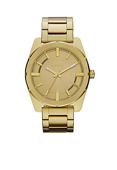 Diesel Ladies Gold-Tone Stainless Steel Three Hand Watch