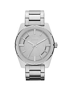 Diesel Ladies Silver-Tone Stainless Steel Three Hand Watch