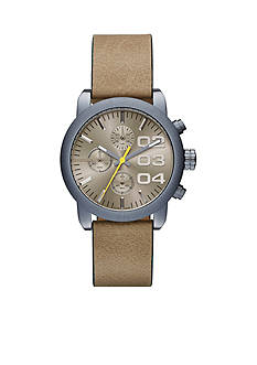 Diesel Men's Flare Chronograph Light Brown Blue IP Watch