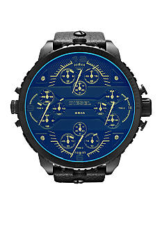 Diesel Diesel XXL Black IP Stainless Steel and Revo Crystal Chronograph Watch