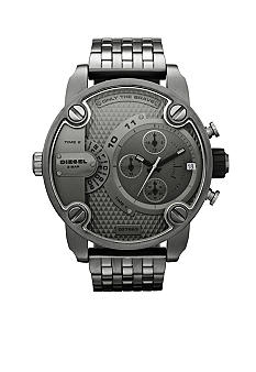 Diesel Men's Dual Time Zone Chronograph Gunmetal Bracelet Watch