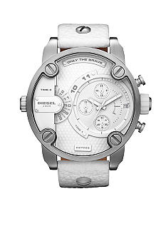 Diesel Men's Dual Time Zone Chronograph White Watch