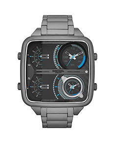 Diesel Men's Gunmetal Stainless Steel Multi-Movement Analog Watch