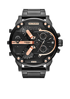 Diesel Men's Black Stainless Steel Mr.Daddy 2.0 Multi-Movement Watch