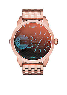 Diesel Ladies Rose Gold-Tone Stainless Steel Bracelet Multifunction Watch