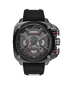 Diesel Men's BAMF Black Silicone Chronograph Watch