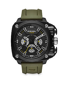 Diesel Men's BAMF Green Silicone Chronograph Watch