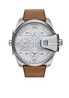 Diesel Men's Uber Chief Brown Leather Multifunction Watch