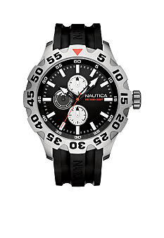 Nautica Multifunction Black Dial Watch