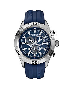 Nautica NST 550 Chronograph with Blue Resin Strap