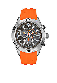 Nautica NST 550 Chronograph with Orange Resin Strap