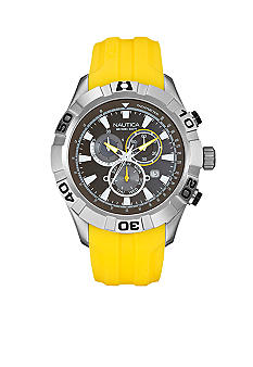 Nautica NST 550 Chronograph with Yellow Resin Strap