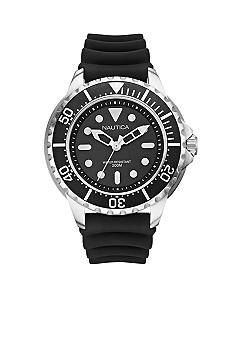Nautica NMX 650 Dive Style Watch with Black Resin Strap