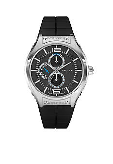 Nautica NMC 200 Multifunction Watch with Black Resin Strap