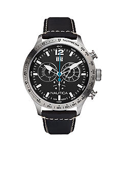 Nautica Chronograph Black Dial Watch